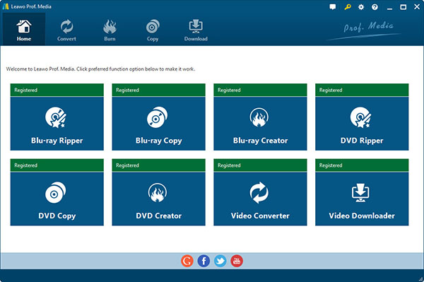launch Leawo Video Downloader