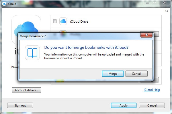 merge bookmarks with iCloudd
