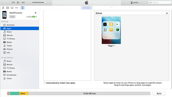 Transfer Apps from Computer to iPhone with iTunes Sync Feature