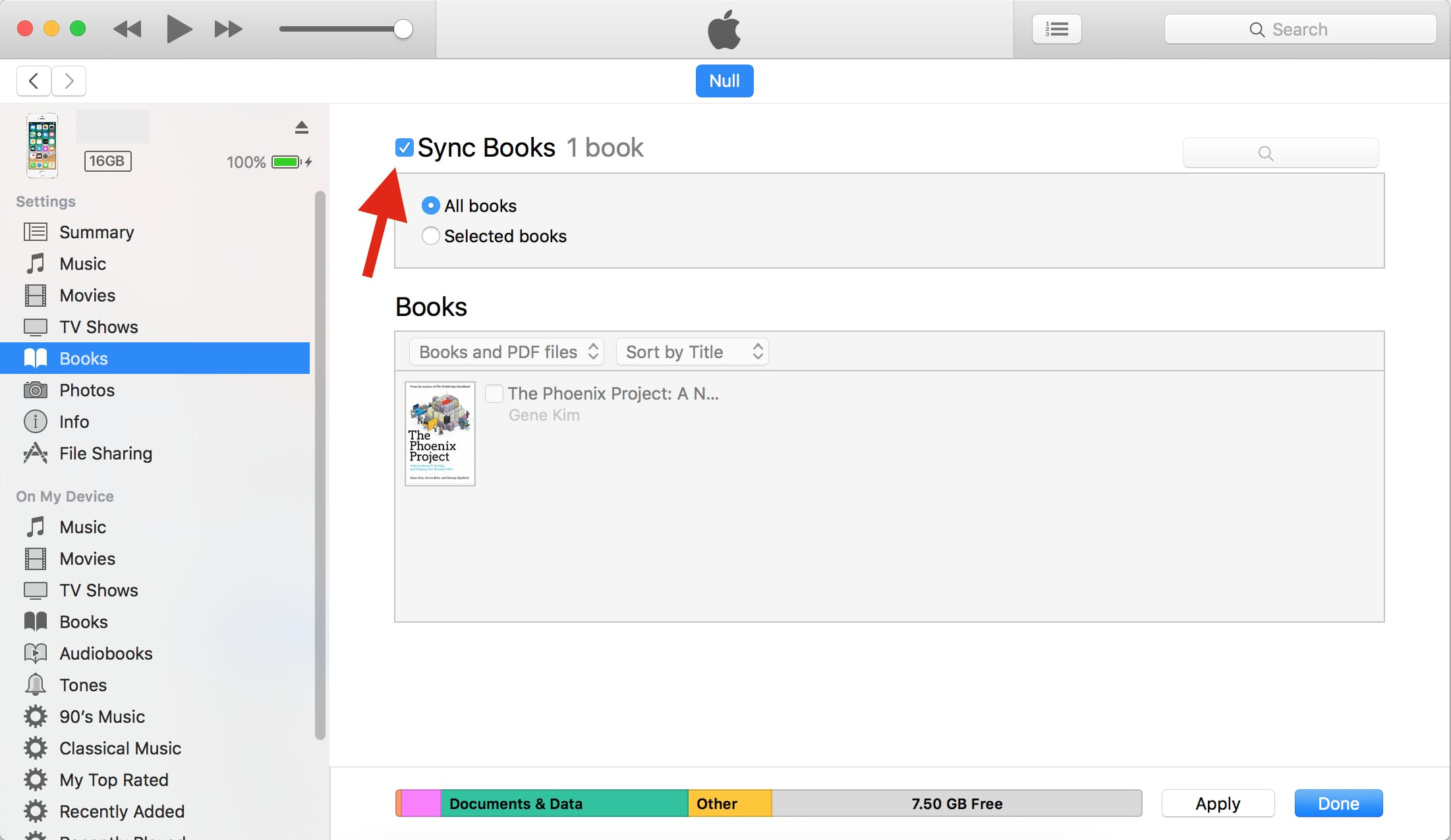turn on syncing for PDFs