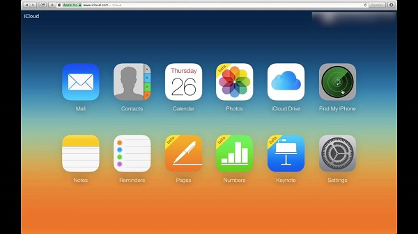 1.Open iCloud.com and log into the website