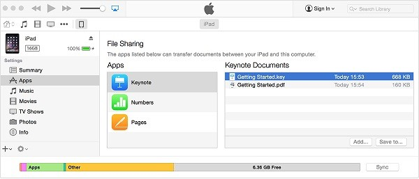 tap on Add to upload movies from iPhone to iPad