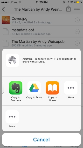 read EPUB on iPhone with iBooks