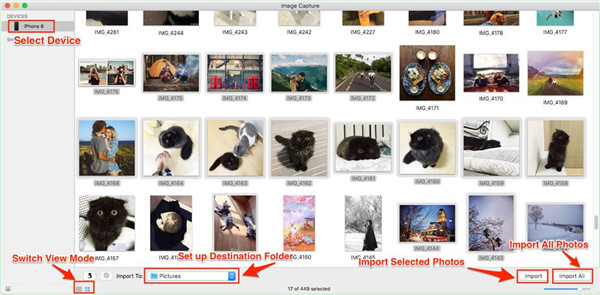 Transfer Photos from iPhone to External Hard Drive Mac via Image Capture