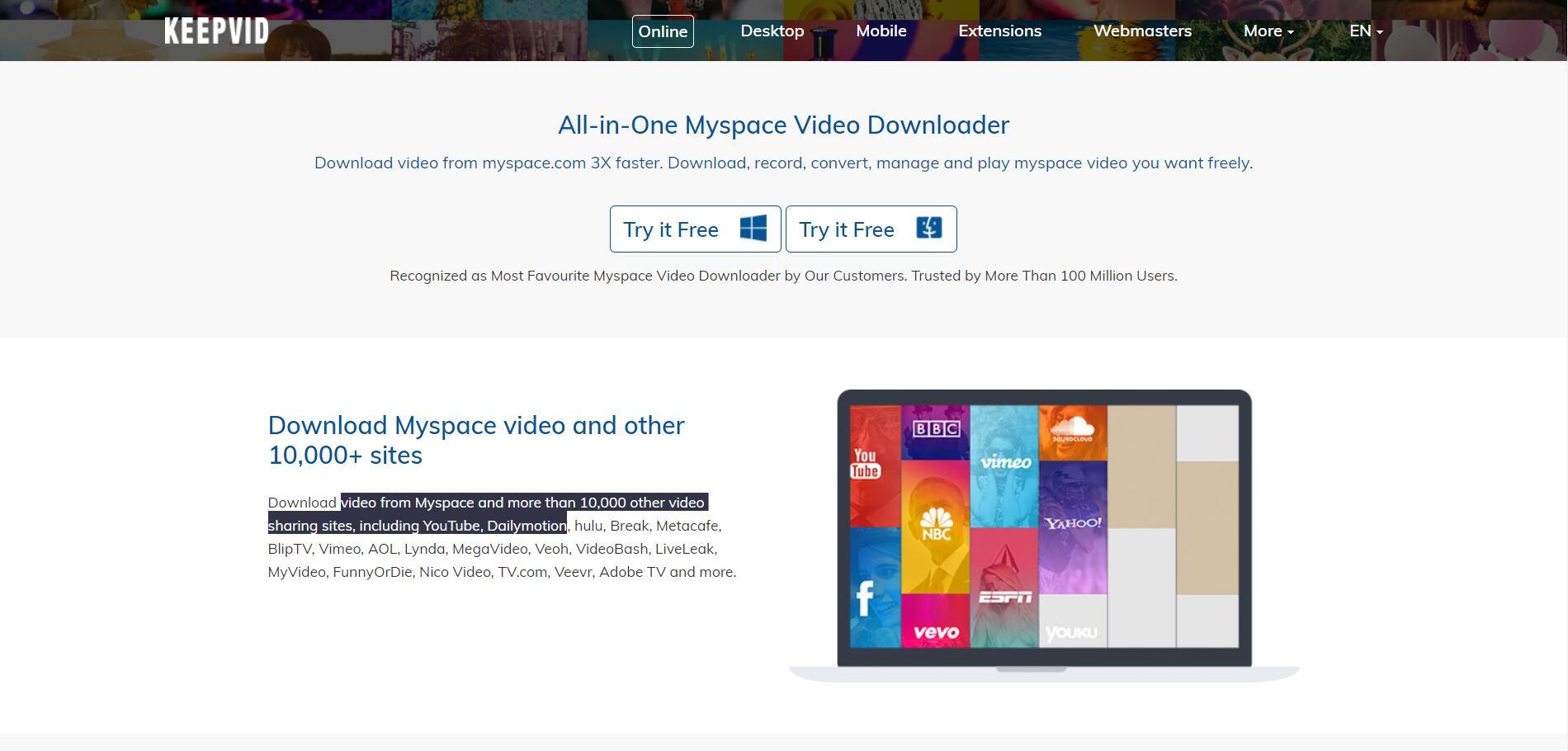 Best Way to Download Myspace videos | Leawo Tutorial Center