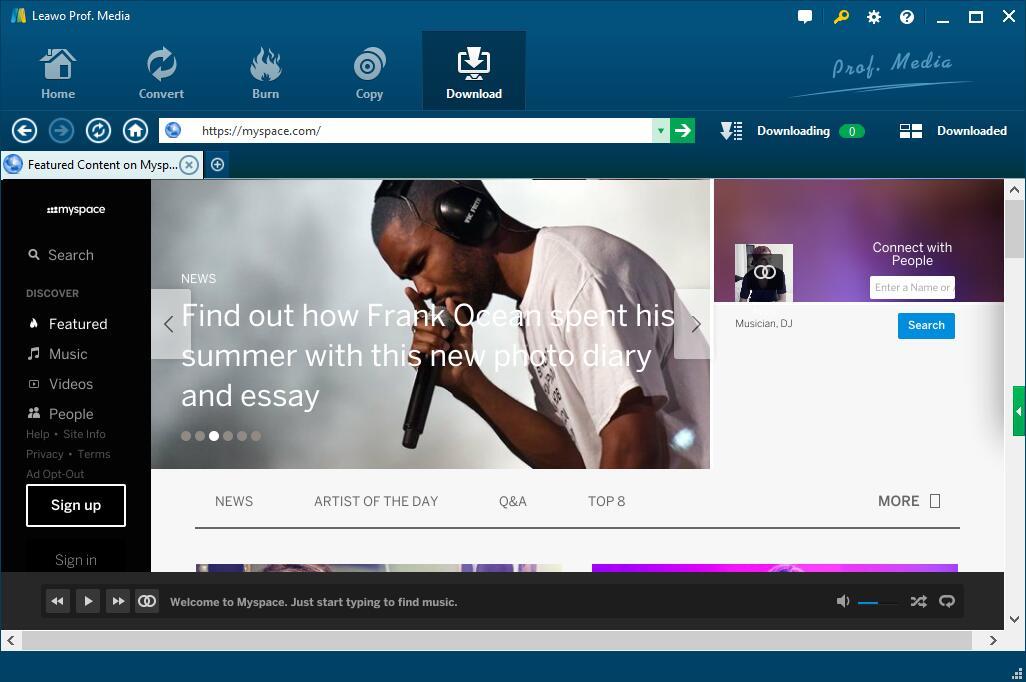 Best Way to Download Myspace videos   Leawo Tutorial Center