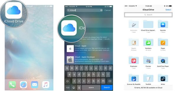 run iCloud Drive application