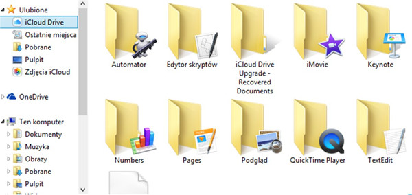 Navigate to iCloud Drive folder
