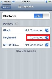 Connect Bluetooth Keyboard to iPhone