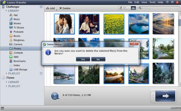 delete iPad photos