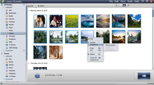 Select Photos to Transfer