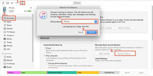 begin to transfer iPhone files to iPad