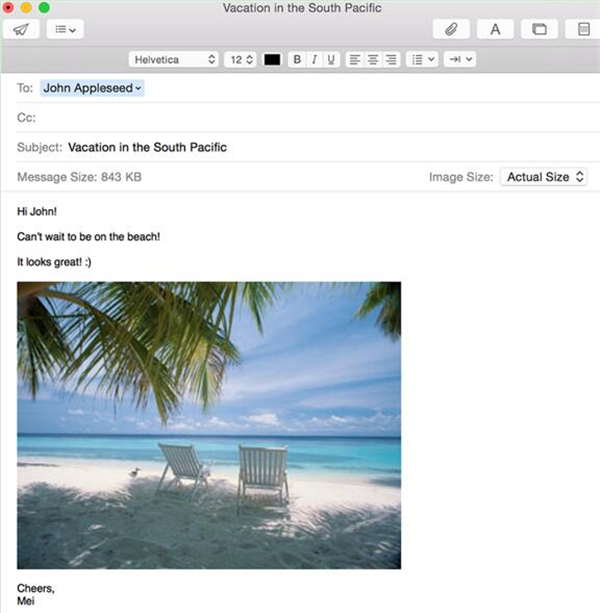 Send Files from Mac to iPhone via Email