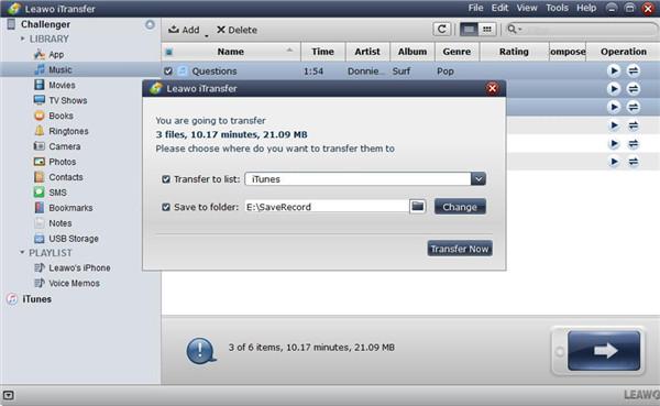 Set Output Folder and Transfer Music