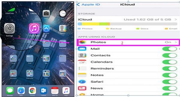 Transfer Photos from iPad to iPad via iCloud