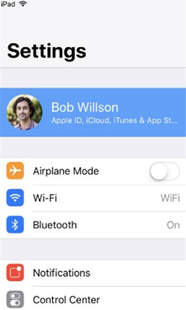 Sync iPad files to iCloud