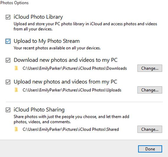 how to use My Photo Stream on Windows PC