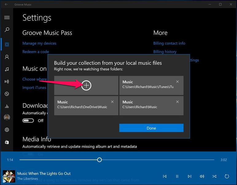 Import iTunes Music to Groove Music