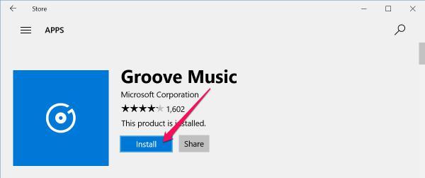download Groove Music app