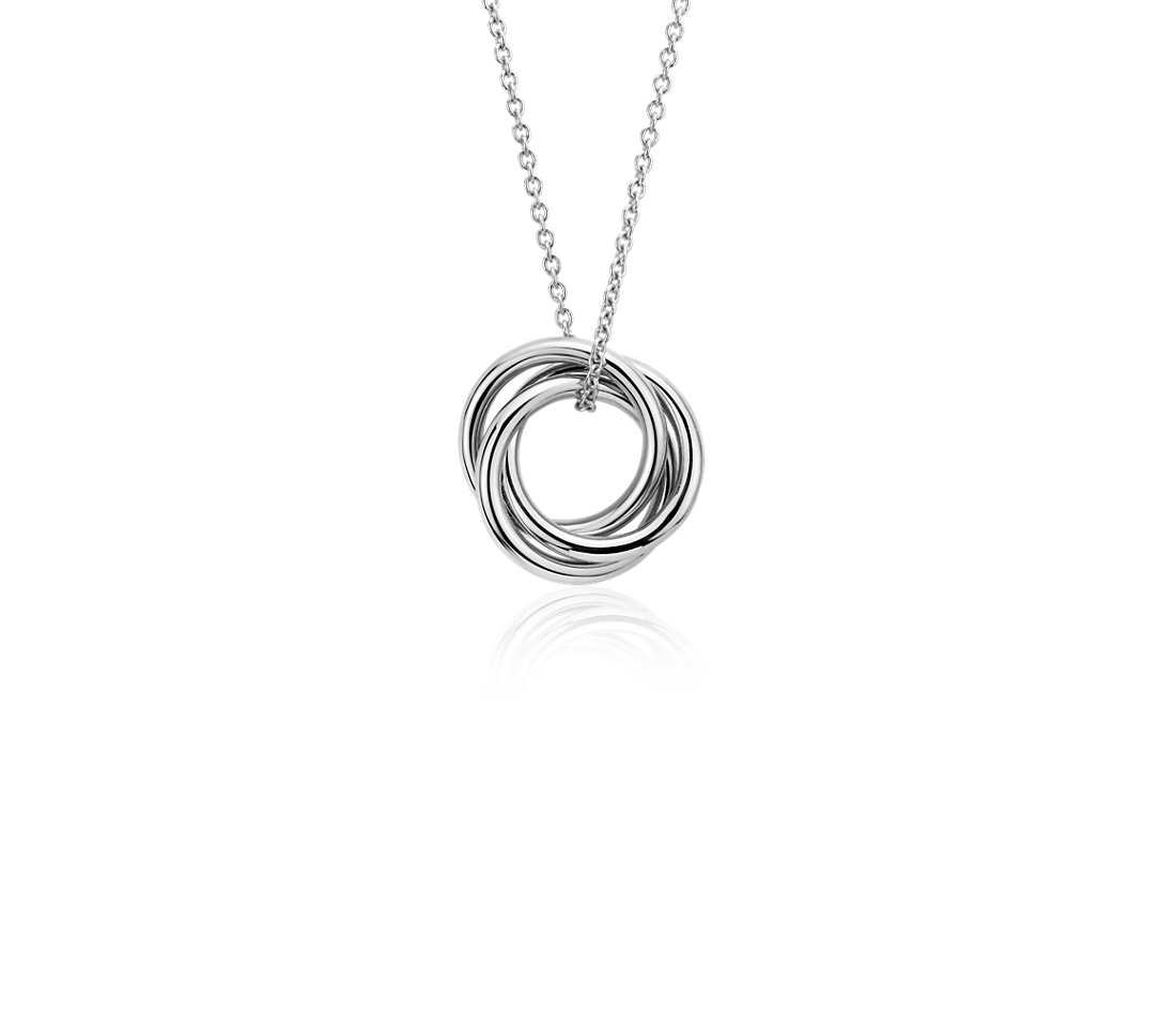 Petite Infinity Rings Pendant
