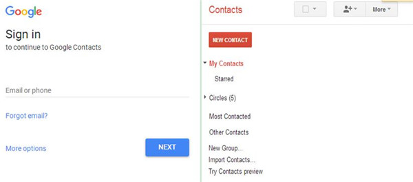 Sign in with your Gmail account