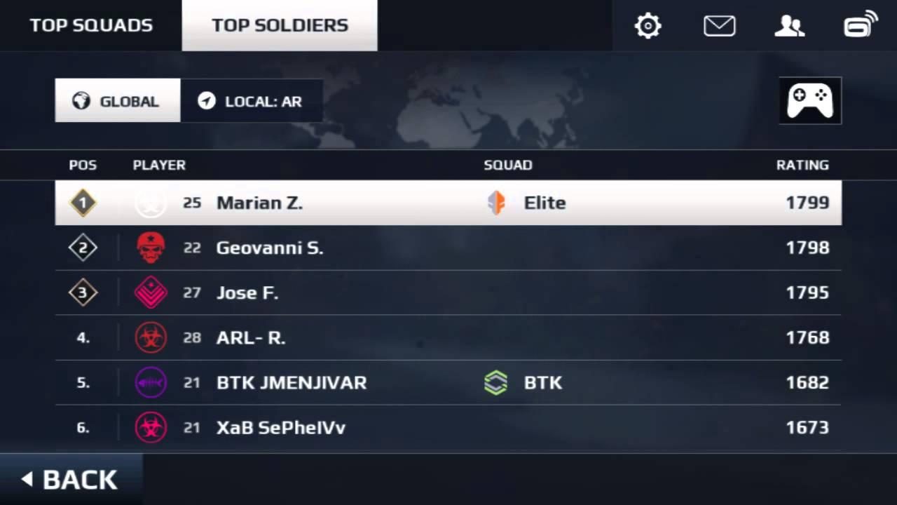 Modern Combat 5 ranking