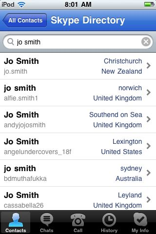 Add contacts through contact requests