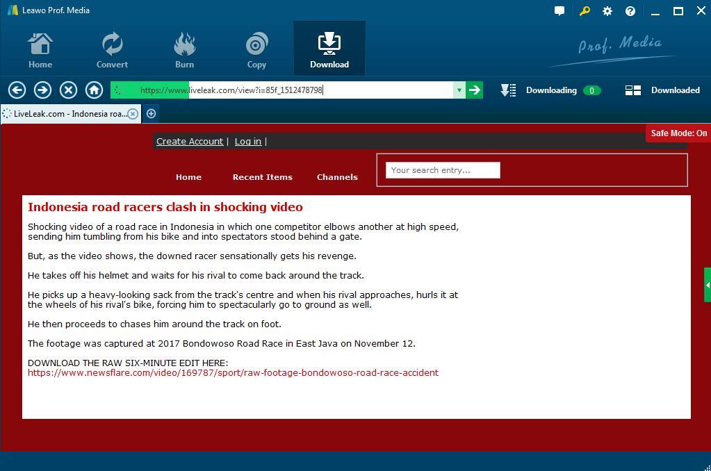 How to Download Liveleak Videos?   Leawo Tutorial Center