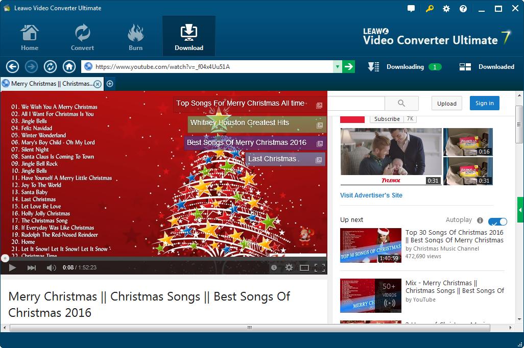 Top 10 Christmas Songs for Kids 2017 | Leawo Tutorial Center