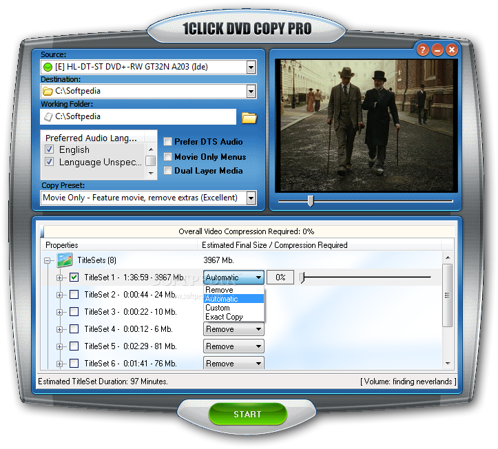 one click dvd copy