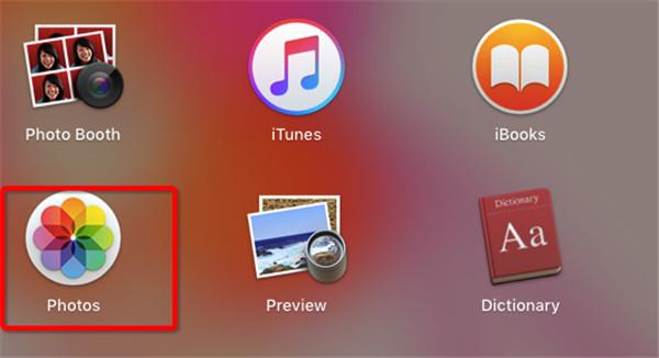 open Photos app on Mac