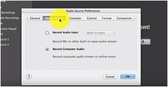 Set audio source
