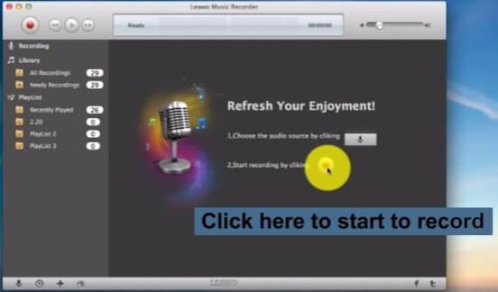 Start recording on Mac