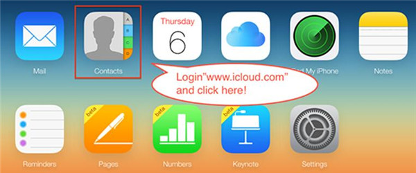 log in iCloud.com