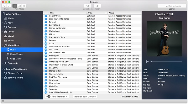 drag and drop those selected music to Mac