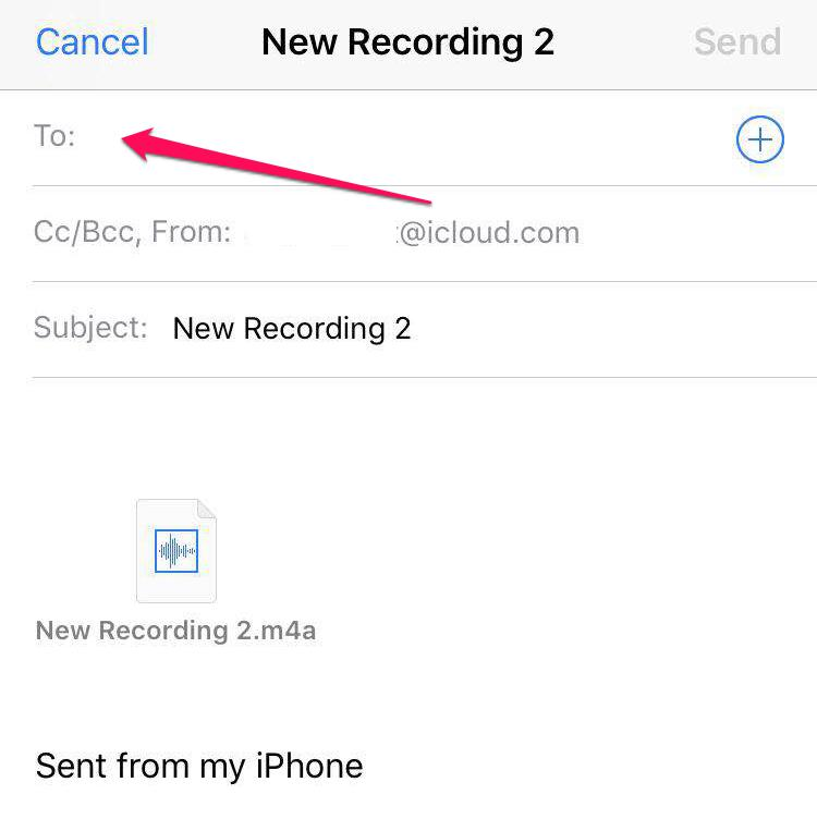 Type in the email address of the iPad account