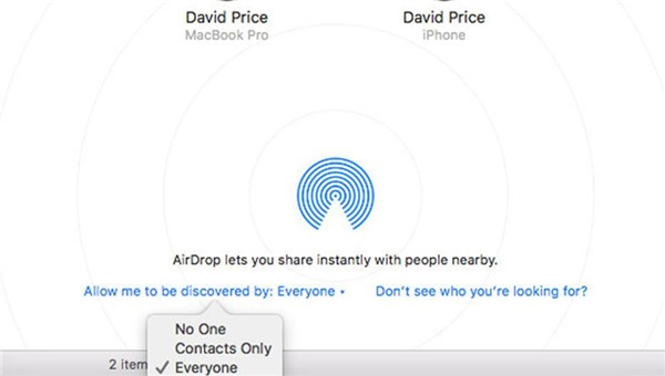 tap on AirDrop Then choose Contacts Only or Everyone