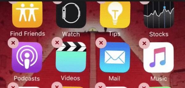 delete the app on iPad