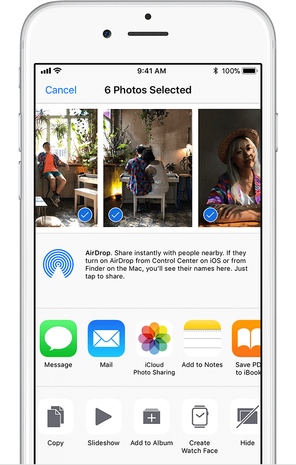 Choose iCloud Photo Sharing