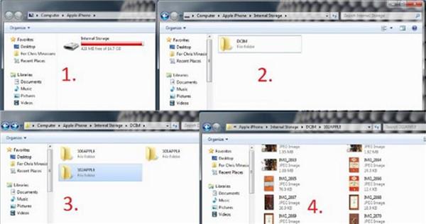 Get Photos off iPhone to PC via Windows Explorer