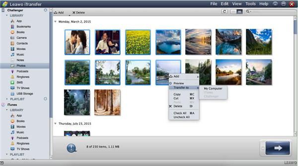 Choose Photos to Transfer