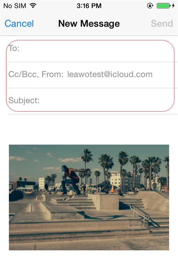 Choose Mails app