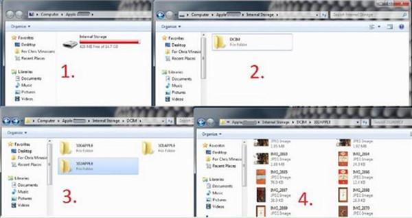 Backup Photo and Video iPad to USB Stick via Windows Explorer