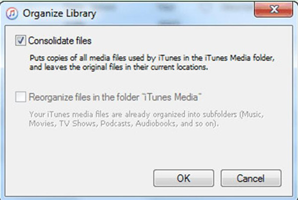 Consolidate the Library of iTunes