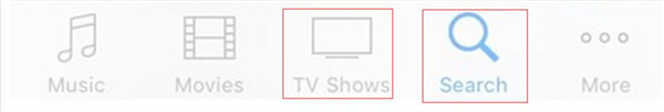 Click on TV Shows button