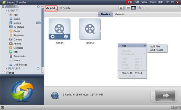 Add MP4 to iPad