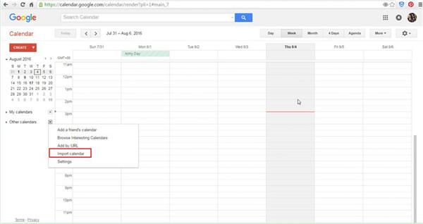 login to Google Calendar