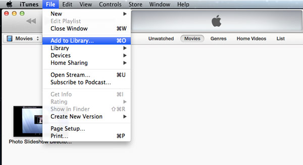 Transfer Movies from Mac to iPad via iTunes Sync