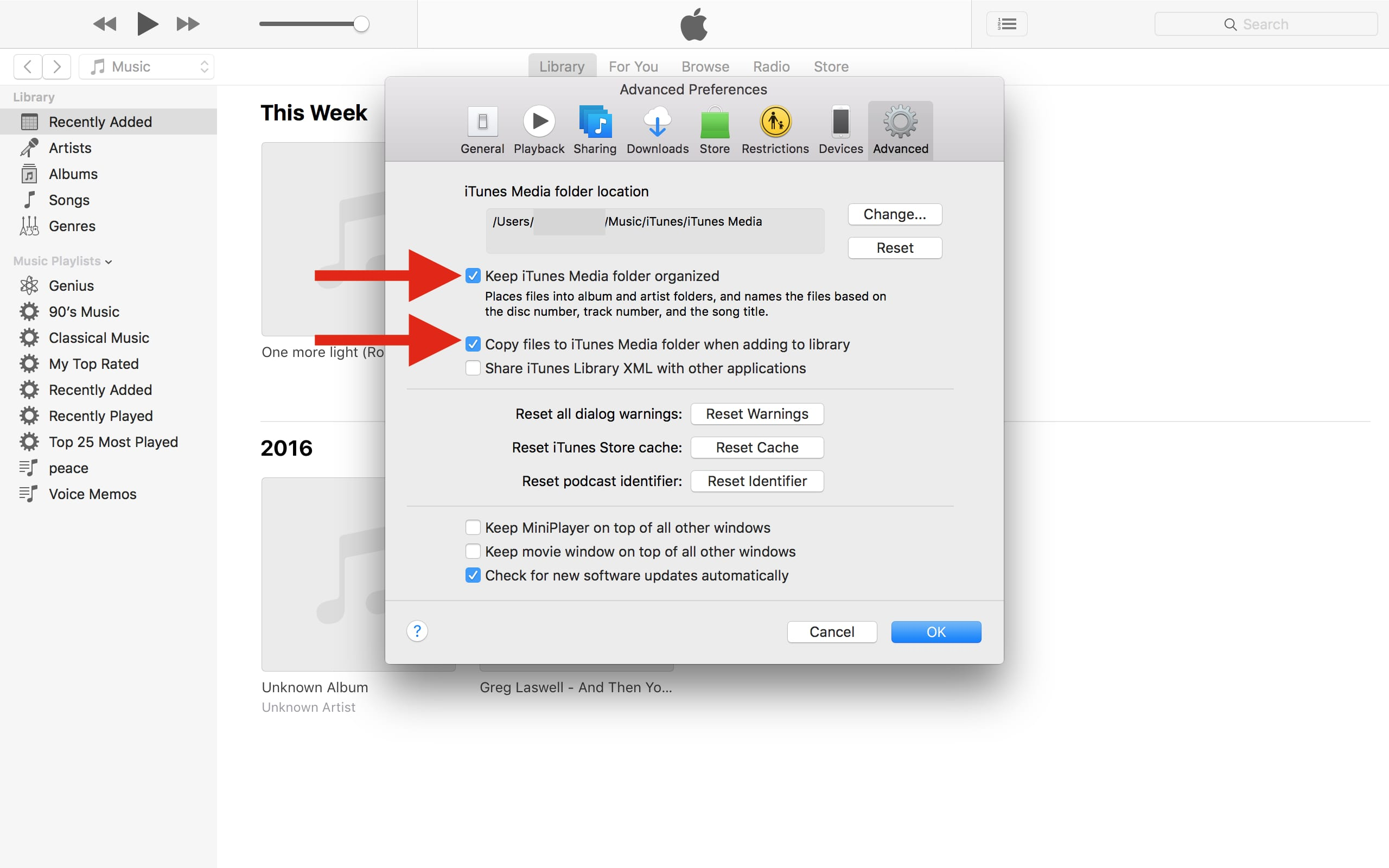 how to add music from usb to itunes library