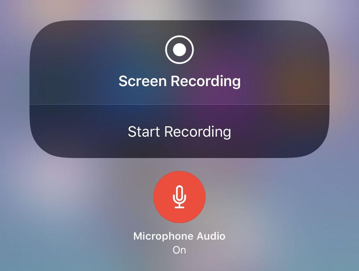 Screen recording iOS 11